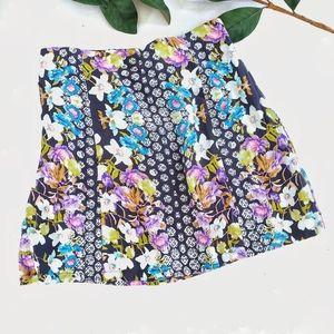 MINKPINK Floral Prirt Skirt Size Small